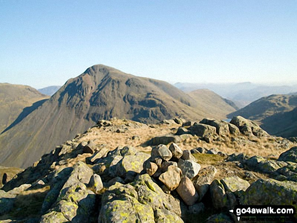 Walk Middleboot Knotts walking UK Mountains in The Southern Fells The Lake District National Park Cumbria    England