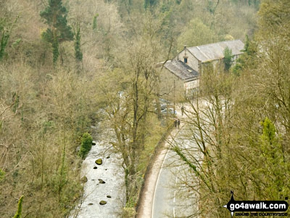 Miller's Dale from the bridge at Miller's Dale Station. Walk route map d138 Monks Dale, Miller's Dale and Tideswell Dale from Tideswell photo