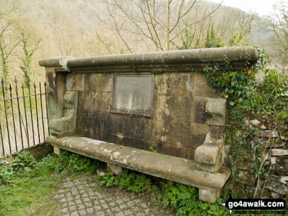 Cressbrook Seat. Walk route map d265 The Monsal Trail and Taddington from Wye Dale photo