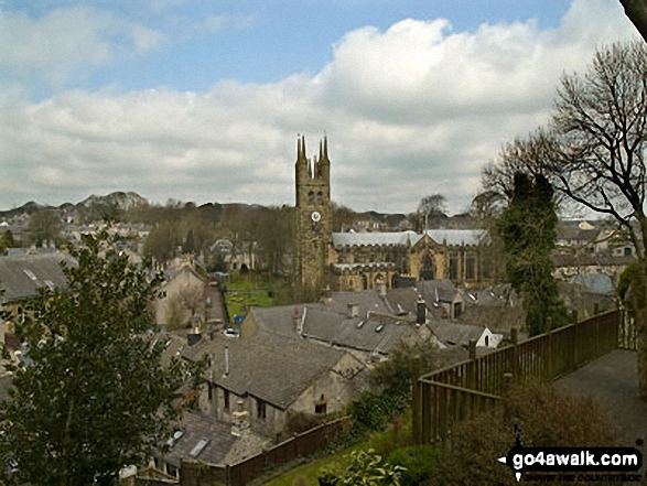 Tideswell Church. Walk route map d163 Tideswell and The Monsal Trail from Peak Forest photo