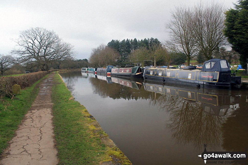 Barges At Adlington Basin On The Macclesfield Canal In