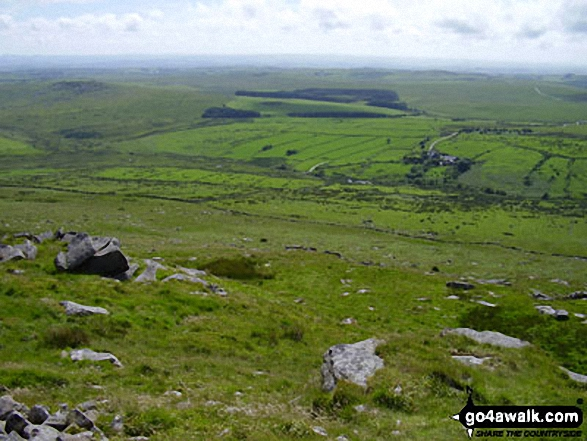 Bodmin Moor from Brown Willy. Walk route map co168 Brown Willy and Bodmin Moor from St Breward photo