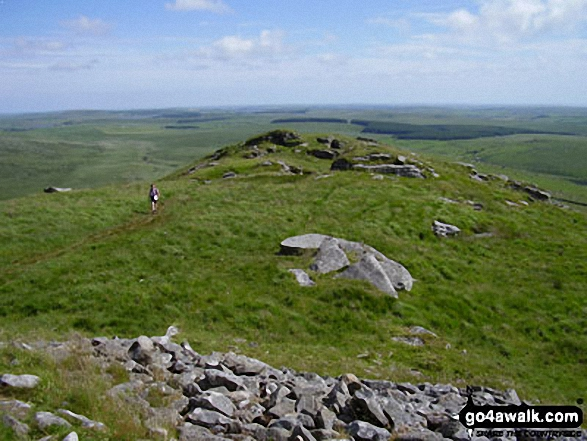 On Brown Willy. Walk route map co168 Brown Willy and Bodmin Moor from St Breward photo
