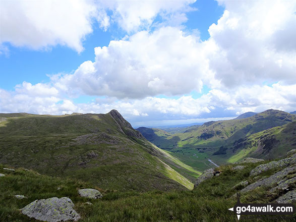 Looking down Mickleden from Black Crags (Langdale)