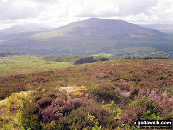 Snowdon (Yr Wyddfa) (in the left distance) and Carnedd Moel Siabod from Drosgol (Bwlch y Groes)