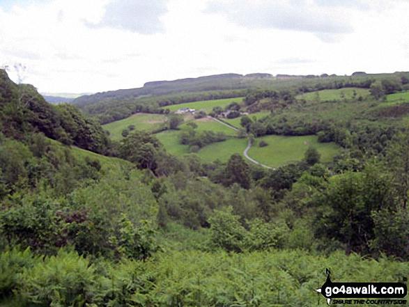 Ty Mawr Wybrnant from the lower slopes of Foel Felen