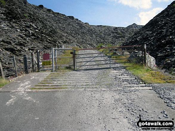 Entrance to Maen-offeren Quarry, Blaenau Ffestiniog