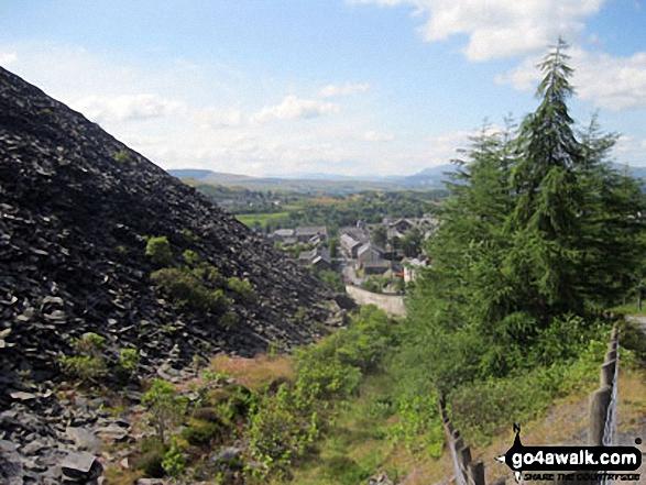 Blaenau Ffestiniog from Maen-offeren Quarry