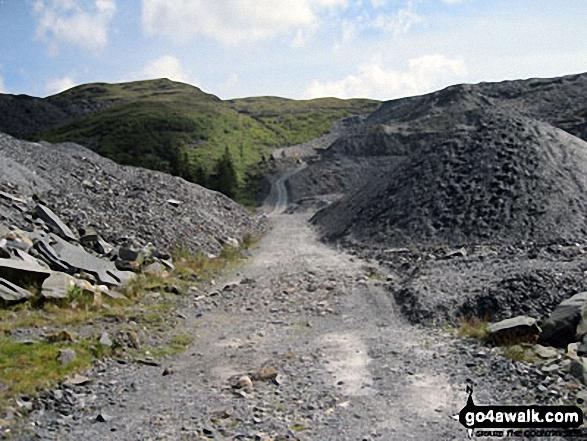 The path up through Maen-offeren Quarry, Blaenau Ffestiniog