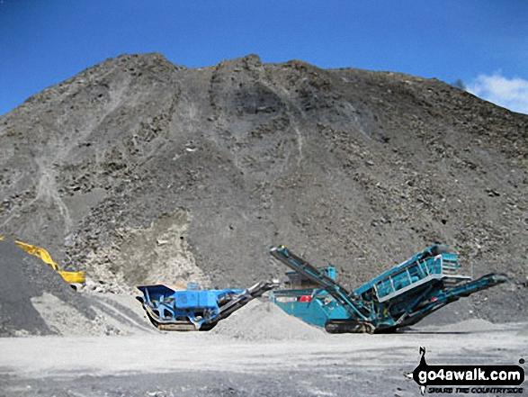 Machinery in Maen-offeren Quarry, Blaenau Ffestiniog