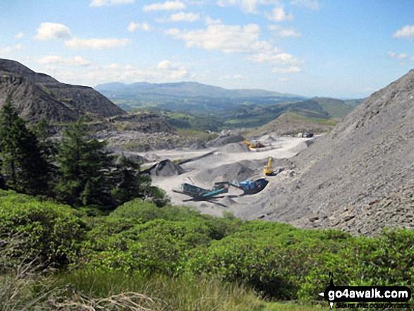 Arenig Fawr and Arenig Fach from Maen-offeren Quarry, Blaenau Ffestiniog
