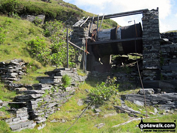 Drum House at the top of a disused incline in Maen-offeren Quarry