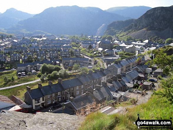 Moel-yr-hydd and Blaenau Ffestiniog from Nant Dwr-oer