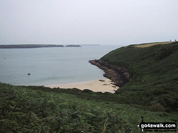 Castlebeach Bay, St Ann's Head, Pembrokeshire Coast. Walk route map pe131 Aber Rhigian and Mynydd Carningli from Newport photo