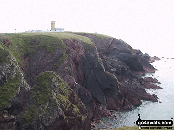 Lighthouse on St Ann's Head, Pembrokeshire Coast. Walk route map pe131 Aber Rhigian and Mynydd Carningli from Newport photo