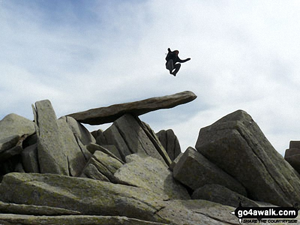 On the �Cantilever Stone, Glyder Fach