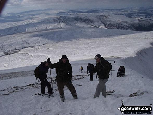 Nearing the summit of Pen y Fan