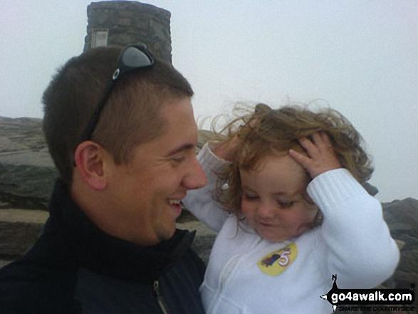 Me and my daughter on Snowdon (Yr Wyddfa) walk Snowdonia Gwynedd Wales walks