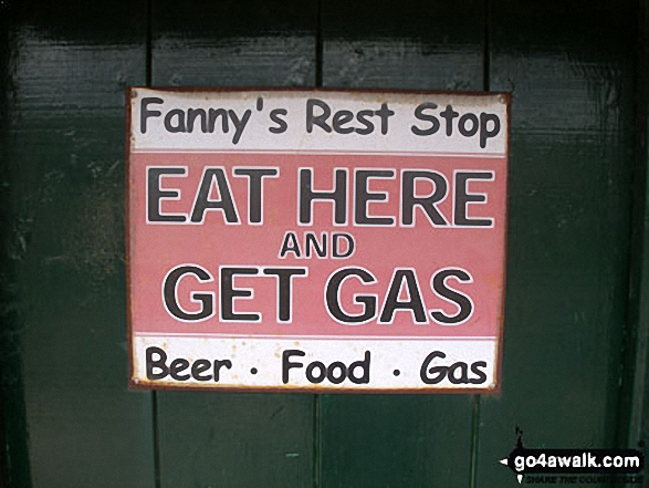 Sign on a door of a farm house at Holwick Scars, Holwick