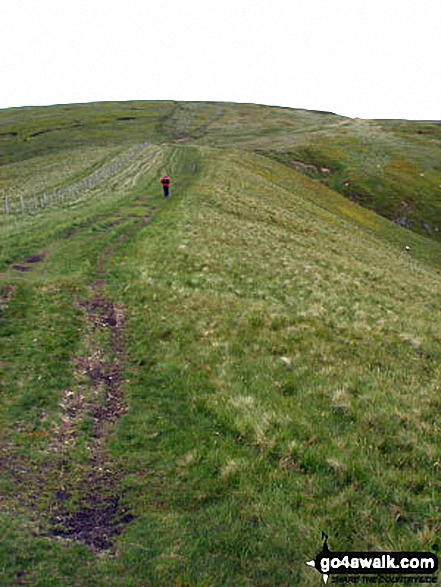 Climbing Windy Gyle via the Pennine Way