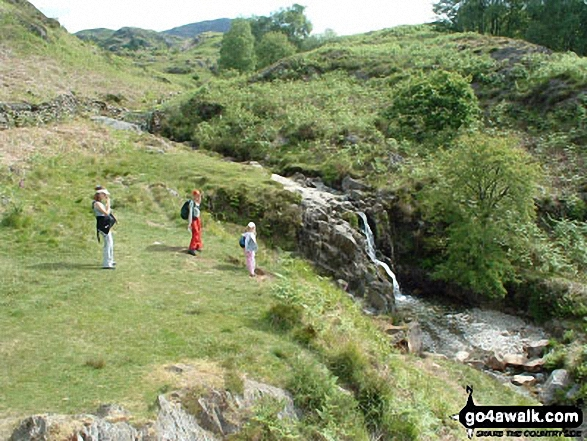 Waterfall in Cwm Bychan