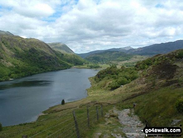 Descent to Llyn Dinas from Grib Ddu nr Beddgelert