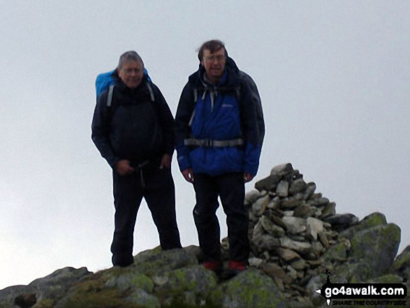 On Kidsty Pike. Walk route map c128 The Hayswater Round from Hartsop photo