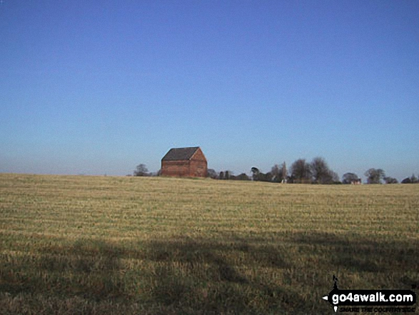 Barn in a field near Dunham Massey Deer Park. Walk route map ch102 Dunham Massey and The Bridgewater Canal from Lymm photo