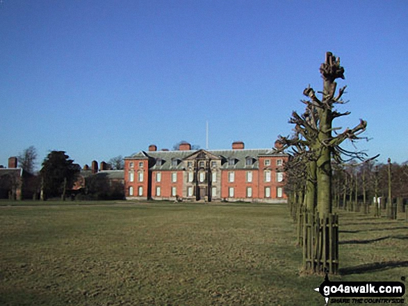 Dunham Massey Hall. Walk route map ch102 Dunham Massey and The Bridgewater Canal from Lymm photo