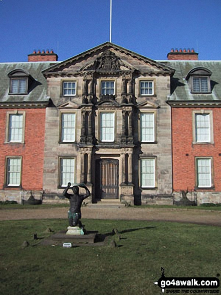 Dunham Massey Hall. Walk route map gm101 The Bridgewater Canal from Dunham Town photo