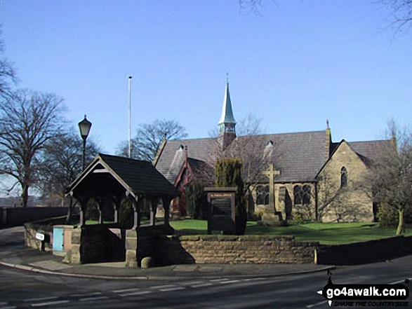 Dunham Town Church. Walk route map ch102 Dunham Massey and The Bridgewater Canal from Lymm photo