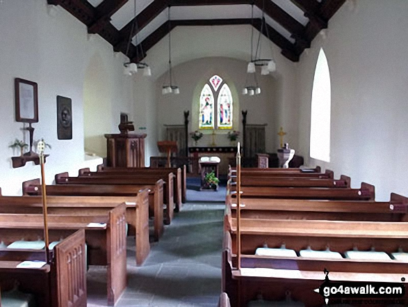 The interior of Buttermere Church, Buttermere