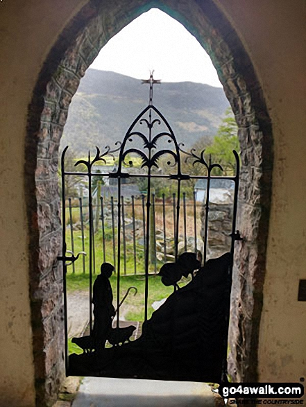 The wrought iron 'Shepherd�s Gate',  Buttermere Church, Buttermere