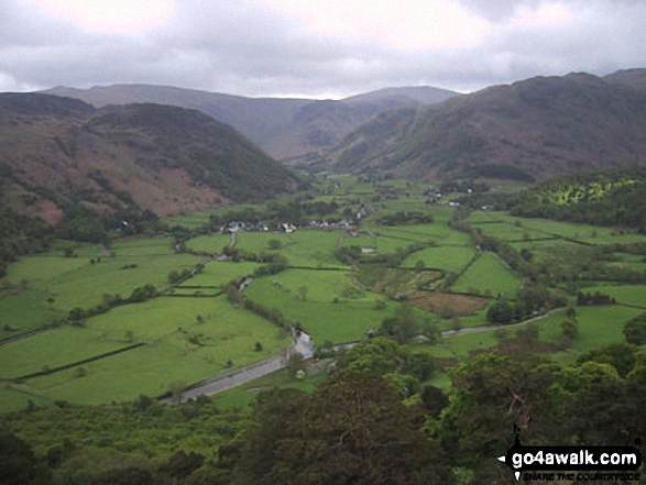 Borrowdale from Castle Crag. Walk route map c135 Castle Crag and Rosthwaite from Seatoller, Borrowdale photo