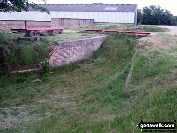 What is left of The (former) Portsmouth and Arundel Navigation Canal near Barnham Court, Barnham