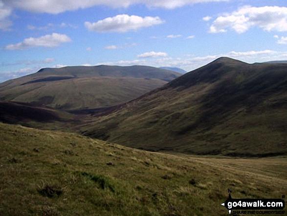 Walk c200 Carrock Fell, High Pike (Caldbeck) and Great Calva from Mosedale - Great Calva from Knott (Uldale Fells)
