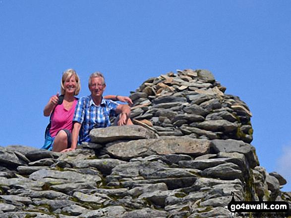Walk c179 The Seathwaite Round from Seathwaite, Duddon Valley - On the summit of The Old Man of Coniston
