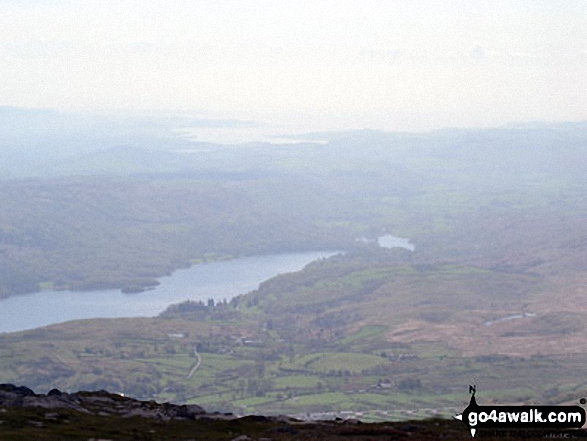 Coniston Water from The Old Man of Coniston summit