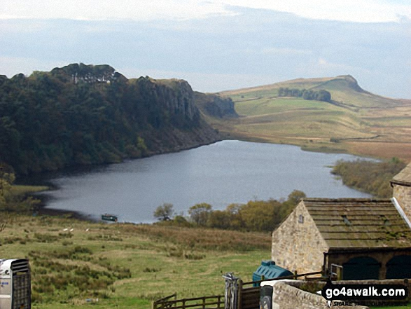 Crag Lough and Hadrian's Wall from Hotbank