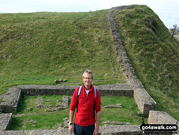 At a milecastle on Hadrian's Wall between Hotbank and Housesteads