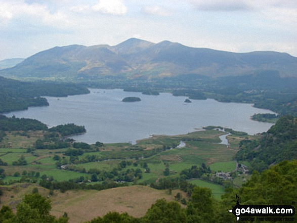 Derwent Water with Keswick and the Skiddaw Massif beyond from High Spy