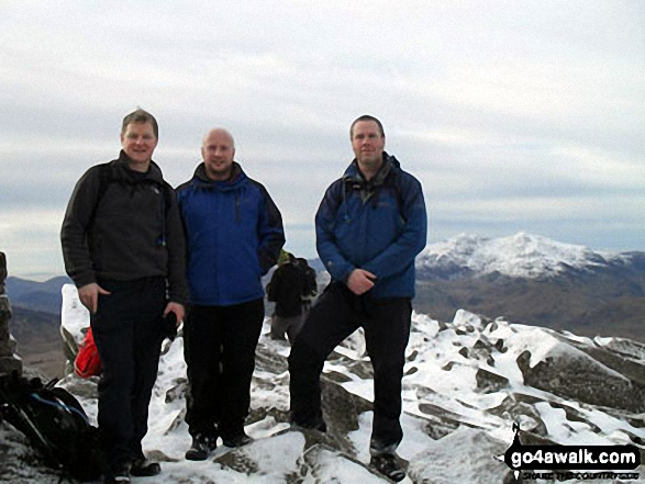 On the summit of Carnedd Moel Siabod. Walk route map cw214 Carnedd Moel Siabod from Pont Cyfyng, Capel Curig photo