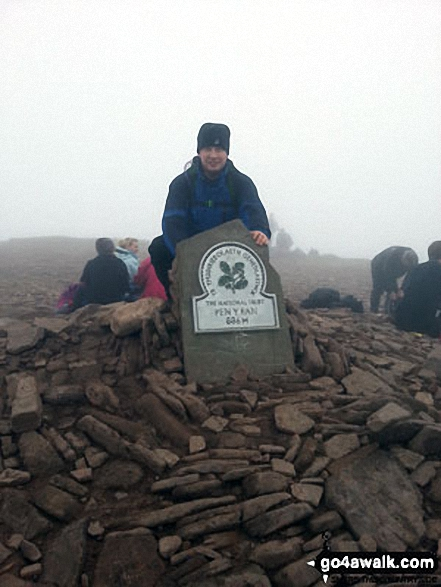 Me at the top of Pen Y Fan Saturday 9th March 2013. We walked up the mountain to celebrate our friends 40th Birthday. It was a bit foggy on the day!