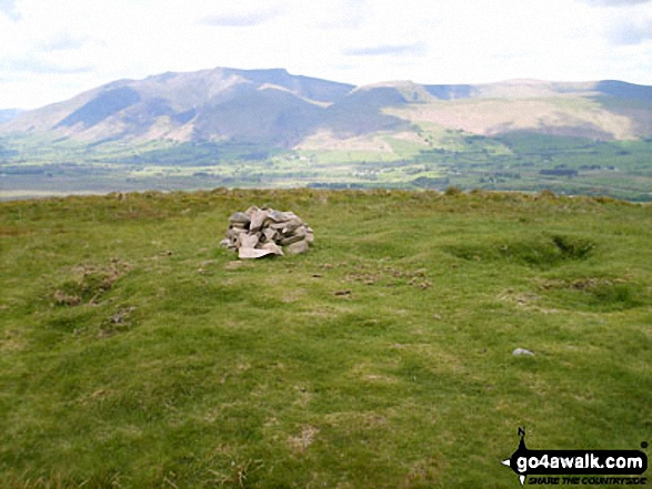 Great Mell Fell summit cairn - with Blencathra (or Saddleback) in the background