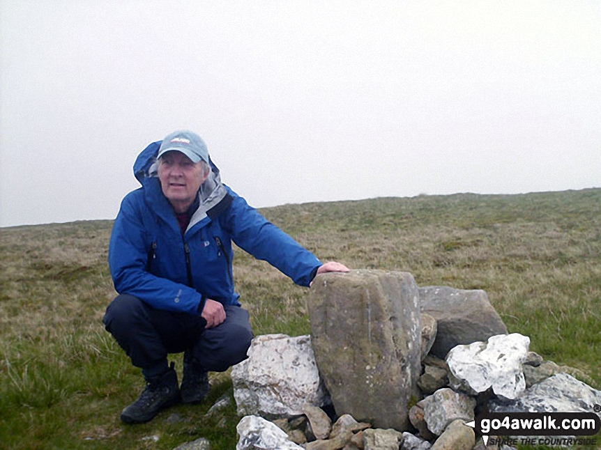 Walk c134 Wether Hill and Loadpot Hill from Howtown - Me beside Loadpot Hill summit cairn