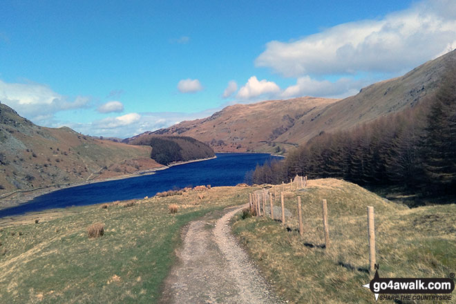 Haweswater from the bottom of Gatescarth Pass
