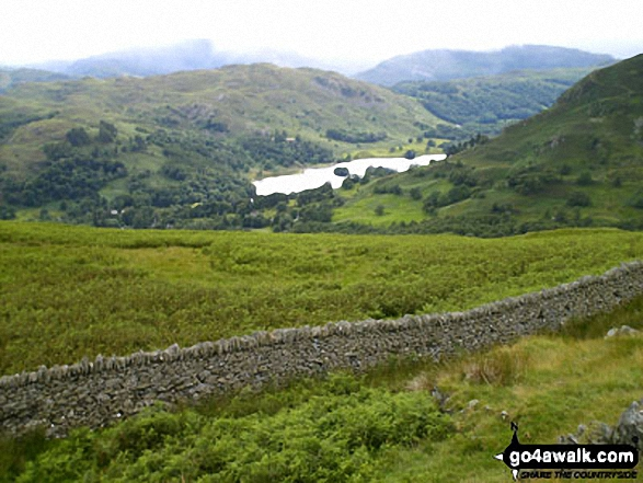 Rydal Water and Loughrigg Fell from Low Pike (Scandale). Walk route map c247 The Fairfield Horseshoe from Ambleside photo