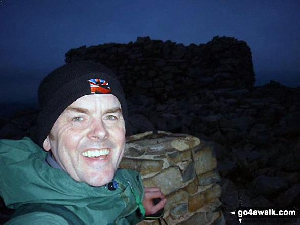 Me, on top of Scafell Pike at 21:55hrs on June 20th, 2012. Walk route map c453 The Scafell Mountains from Wasdale Head, Wast Water photo