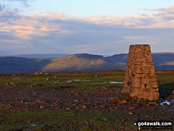 Ingleborough summit trig point