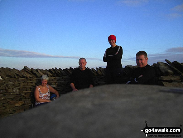 On Whernside Summit - taking a breather two thirds of the way round the Yorkshire Three Peaks Challenge Walk